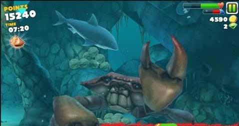 饥饿的鲨鱼进化中超强螃蟹打法攻略