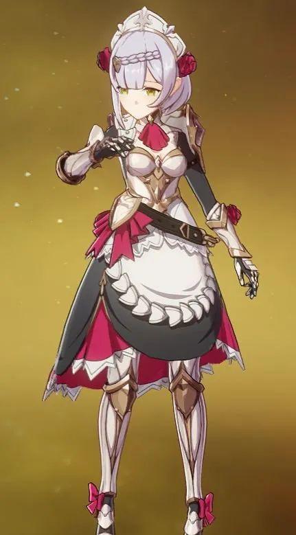 原神丨未授勋之花诺艾尔测评,极其能抗的岩女仆